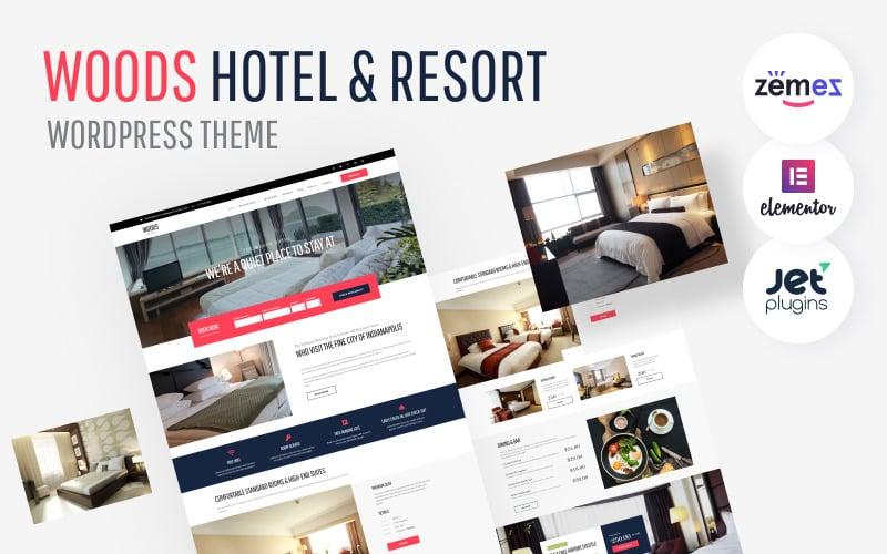 WordPress motiv Woods Hotel - Hotel & Resort