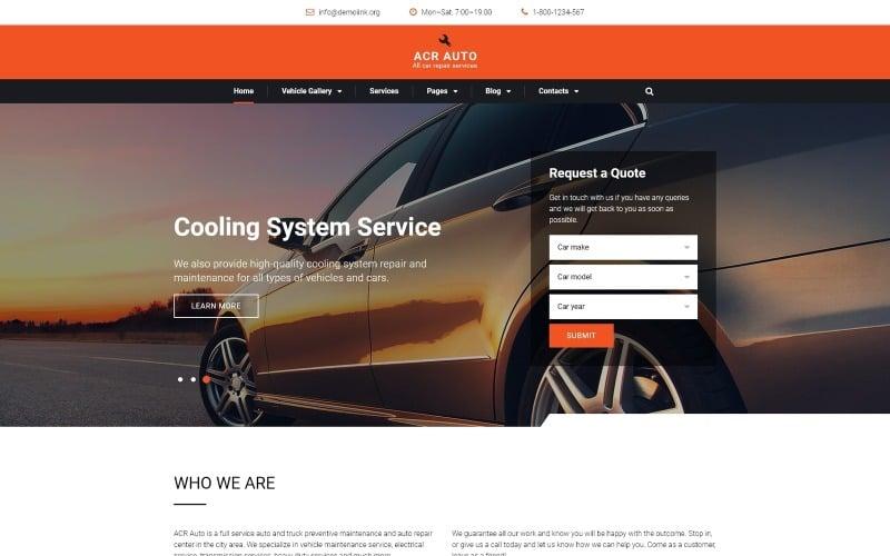 ACR Auto - Современный многостраничный HTML-шаблон сайта по ремонту автомобилей