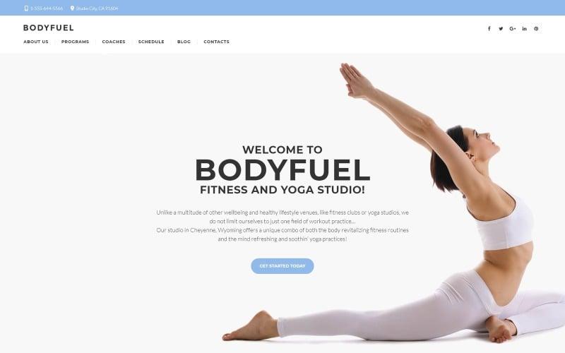 BodyFuel - Fitness & Yoga WordPress Theme