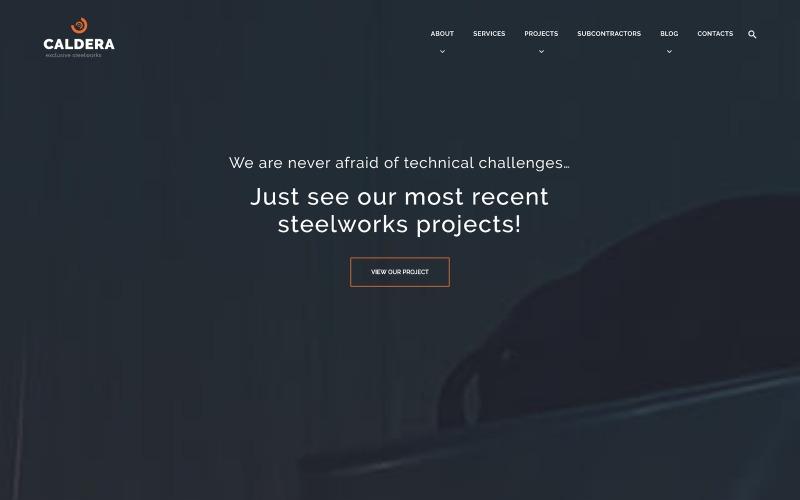 Caldera - тема WordPress для металлургических предприятий и строительства