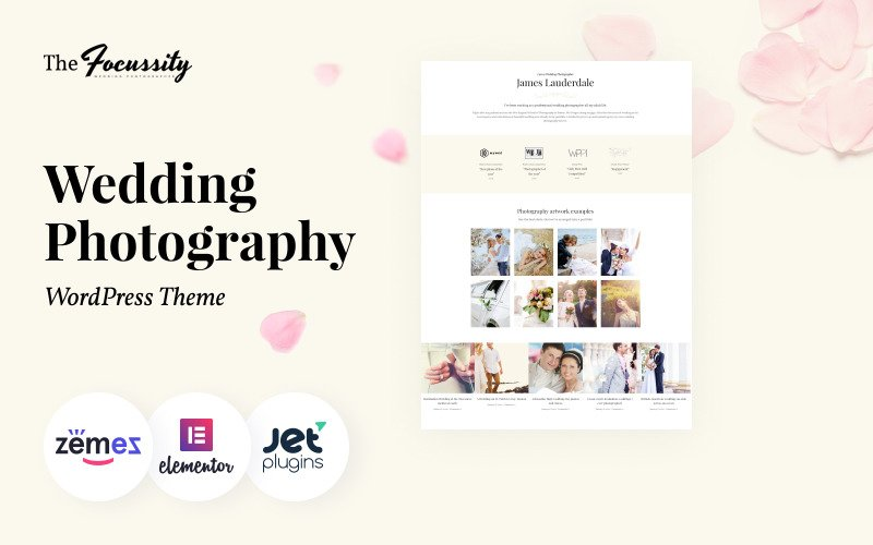 Foco - Tema WordPress de Fotografia de Casamento