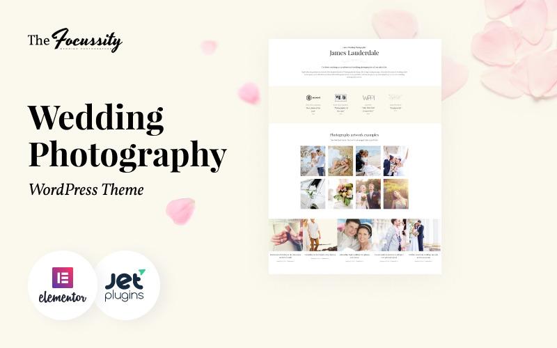 Focussity - Thème WordPress pour la photographie de mariage