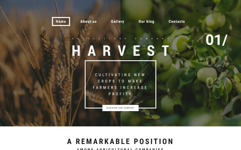 Harvest WordPress Theme