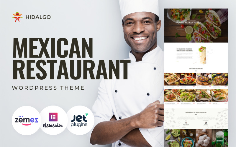 Hidalgo - mexikói éttermi étterem WordPress téma