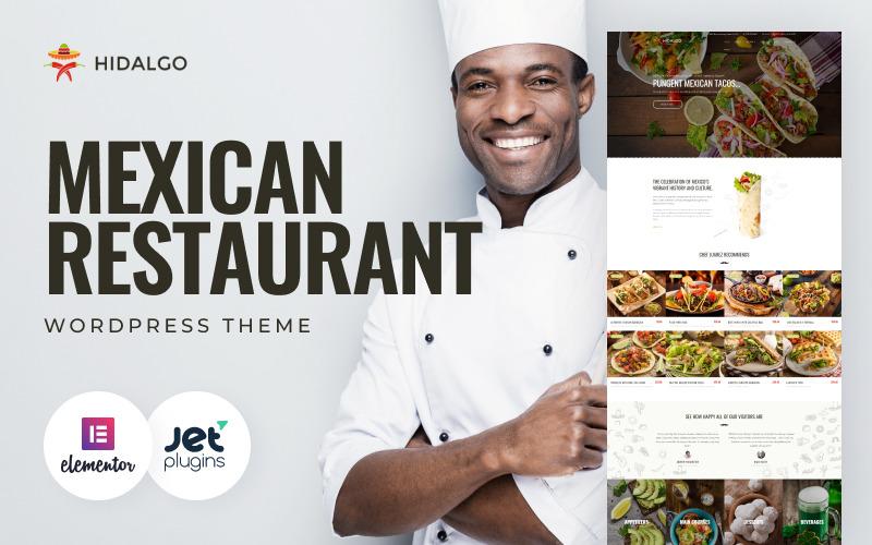 Hidalgo - тема WordPress для ресторана мексиканской кухни