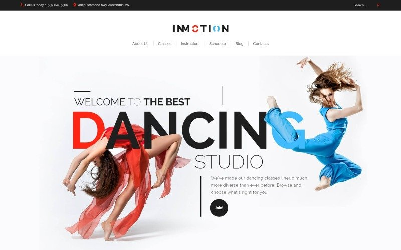 InMotion - Dance School WordPress Theme