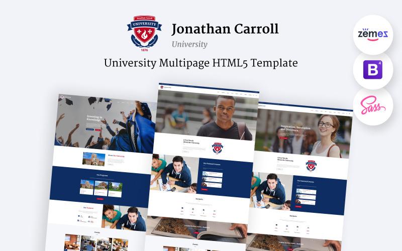 Jonathan Carroll - Modello di sito Web HTML5 reattivo per l'università