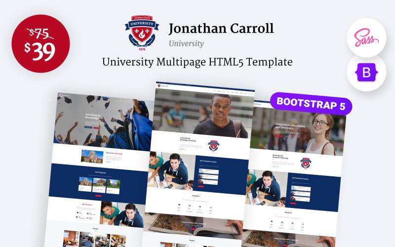 Jonathan Carroll - Plantilla de sitio web HTML5 receptivo para universidades
