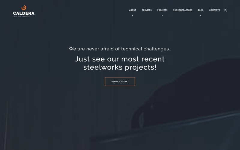Motyw WordPress Caldera - Steelworks and Constructions