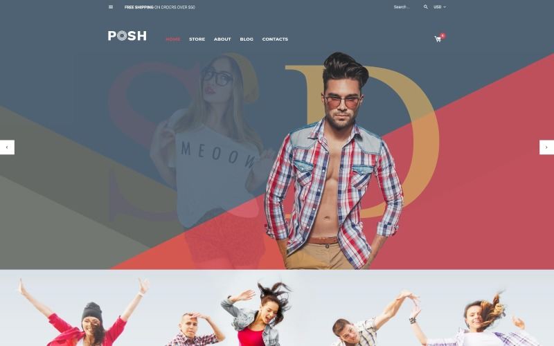 Posh - Urban Fashion WooCommerce-tema