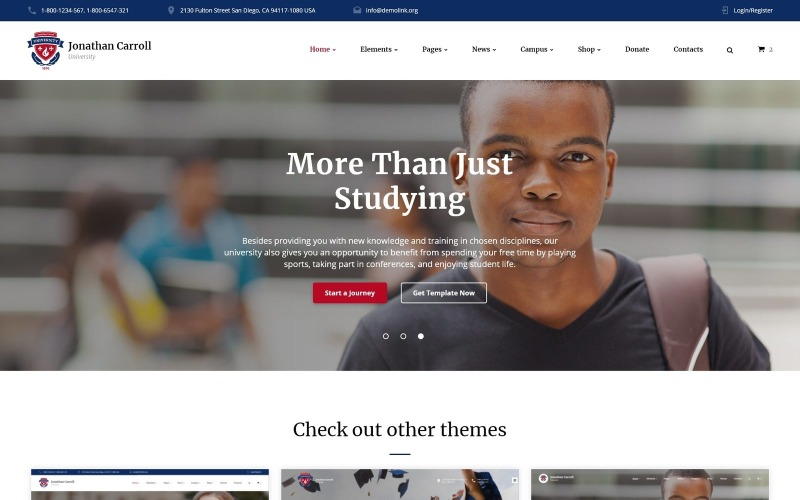 Responsive Website-Vorlage der Universität