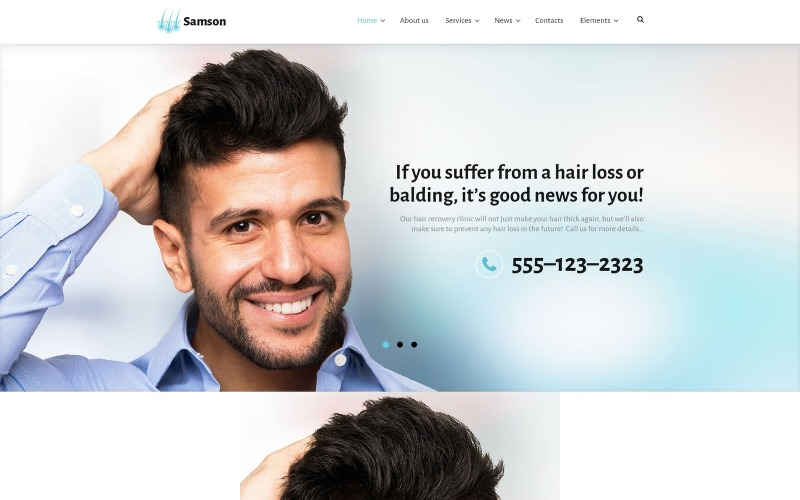 Samson - Hair Recovery Clinic WordPress Theme