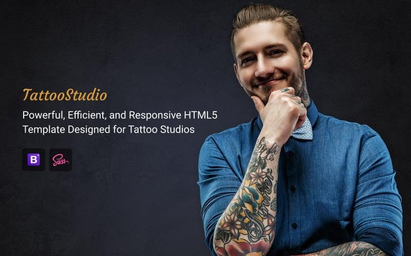 Tattoo Salon - Адаптивный HTML-шаблон сайта Beauty
