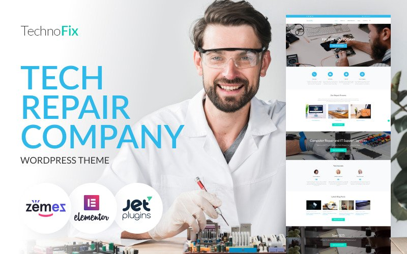 TechnoFix - Tech Repair Company WordPress Theme