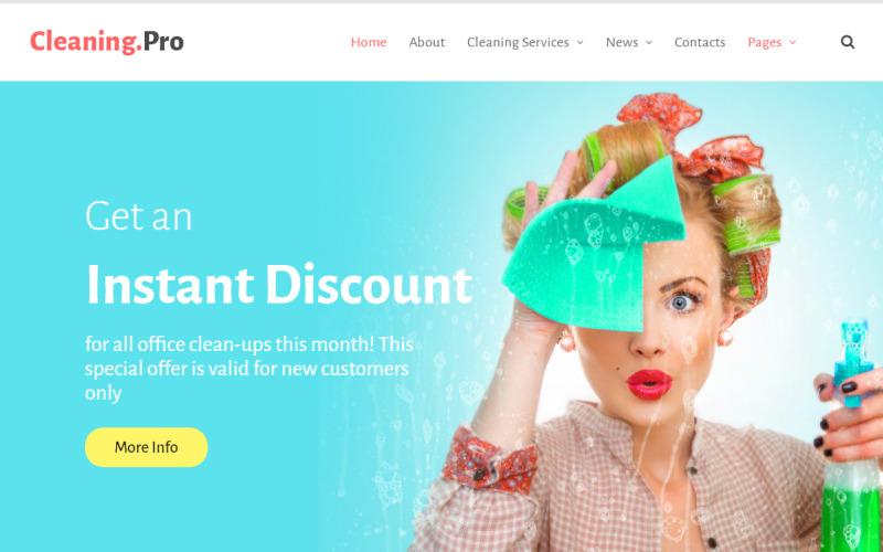 Tema de WordPress para empresa de servicio de limpieza y limpieza