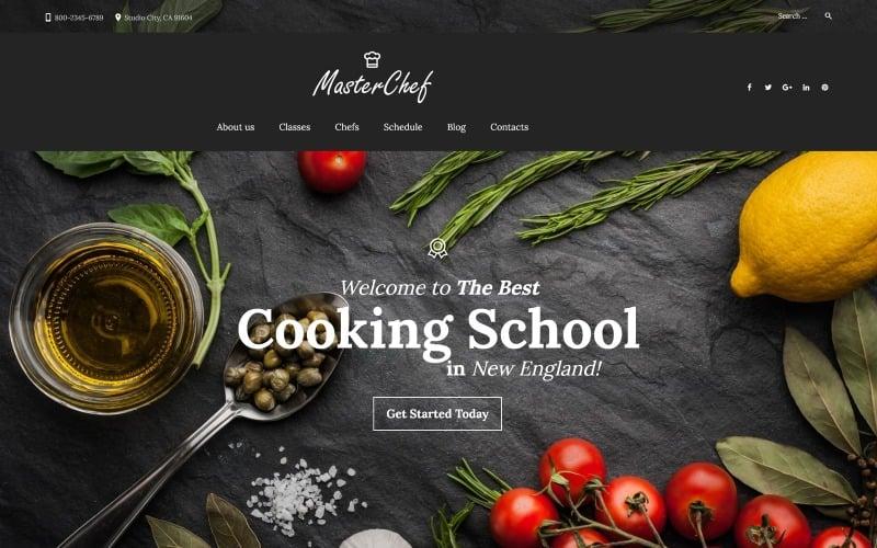 WordPress motiv Master Chef Cooking School