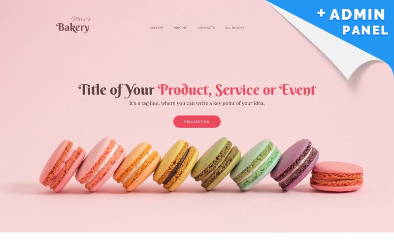 Bakery Landing Page Template