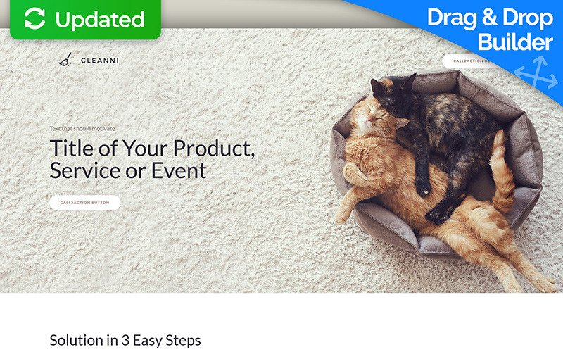 Cleaning Landing Page Template