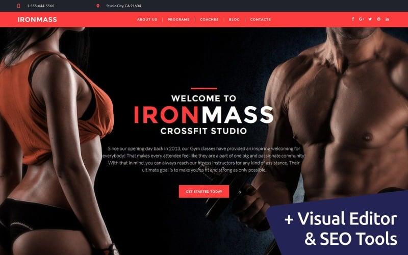 IronMass - Fitnesscenter Moto CMS 3 Vorlage
