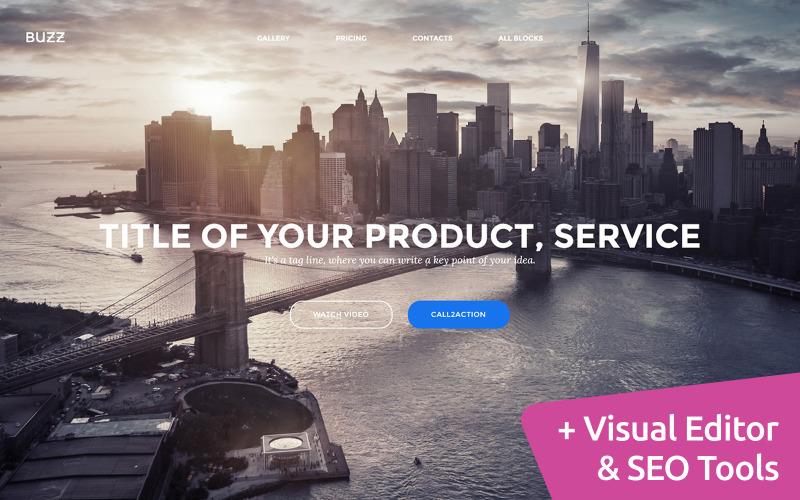 Startups MotoCMS Landing Page Template