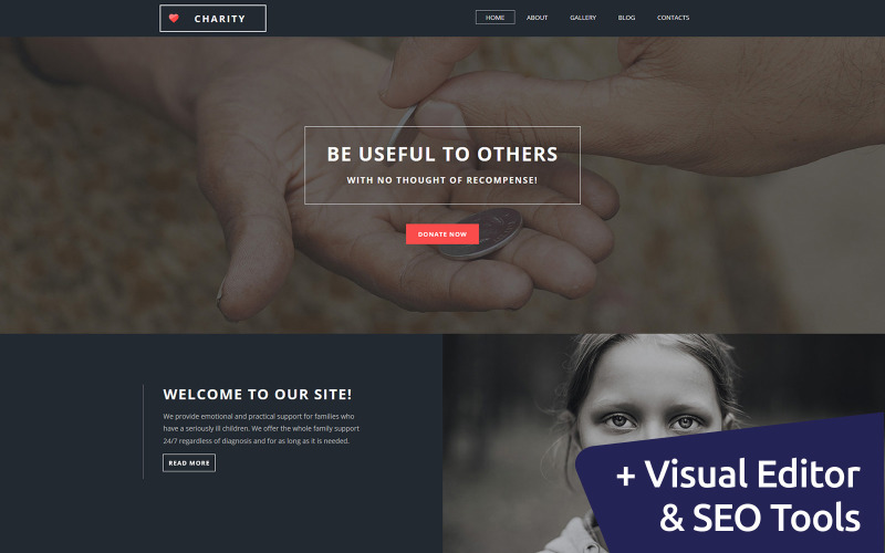 Best Charity Moto CMS 3 Template