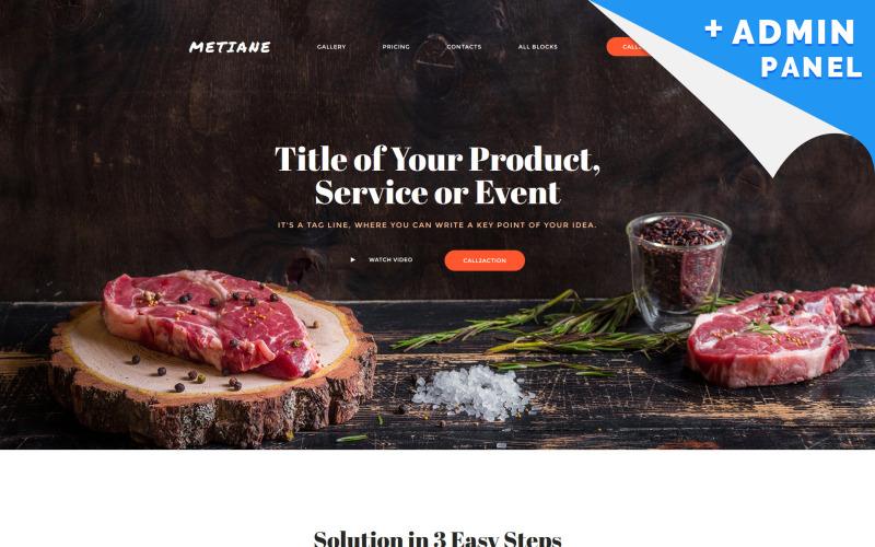 Kafe ve Restoran Açılış Sayfası Şablonu
