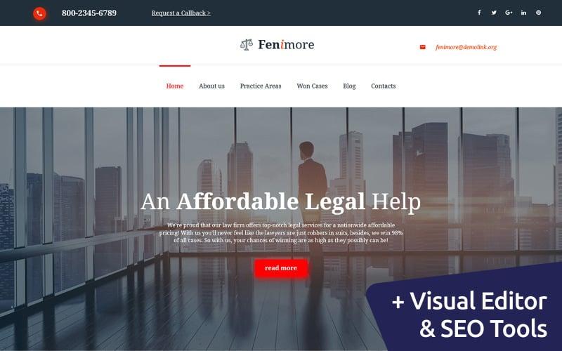 Fenimore - Modelo de escritório de advocacia Moto CMS 3