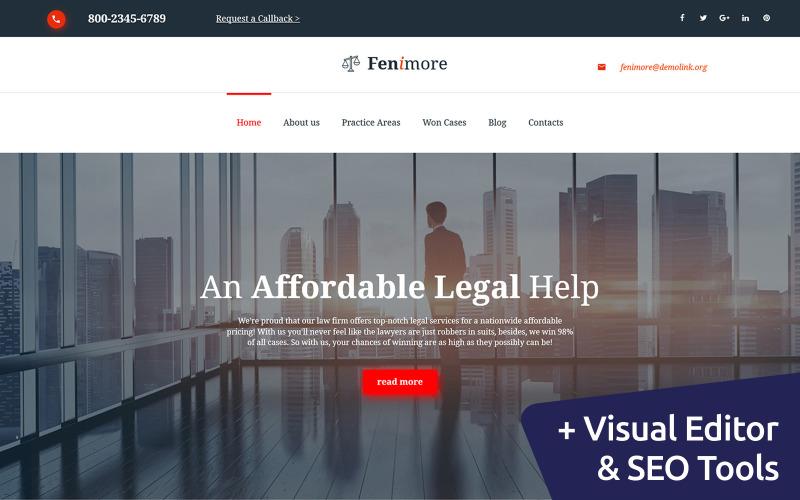 Fenimore - Ügyvédi Iroda Moto CMS 3 sablon