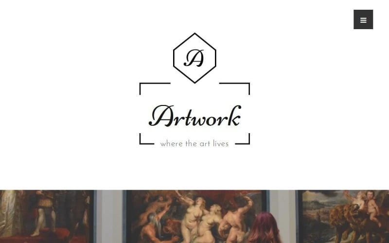 Thème WordPress pour l'art et la photographie - Artwork