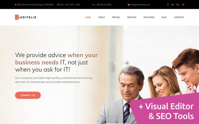 Auditelix - Accounting Premium Moto CMS 3 Template