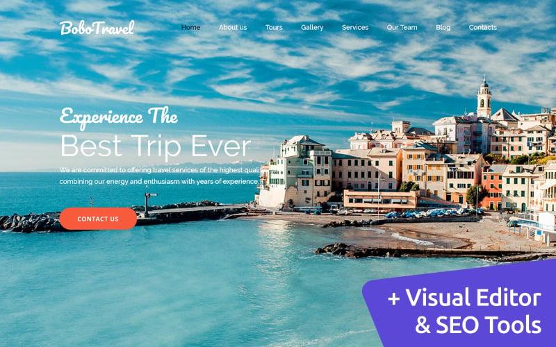 BoboTravel - Travel Premium Moto CMS 3 Template