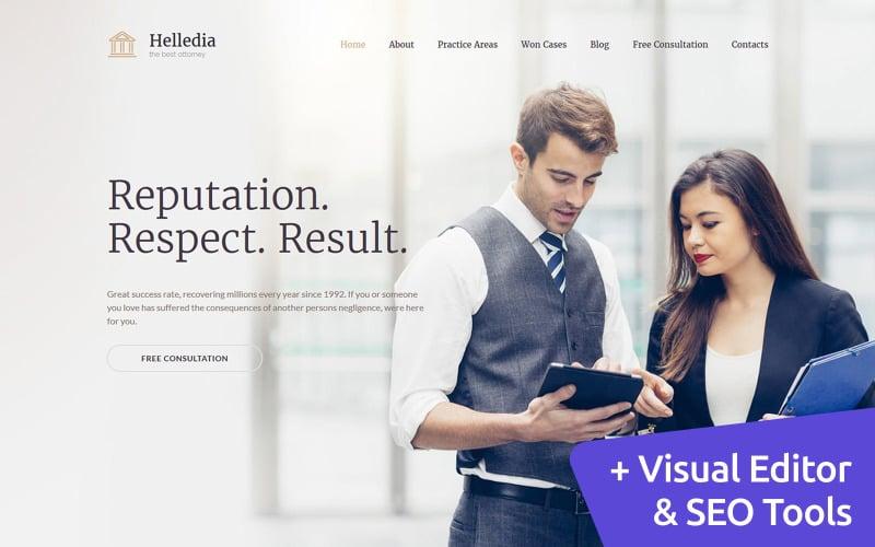 Helledia - Lawyer Premium Moto CMS 3 Template