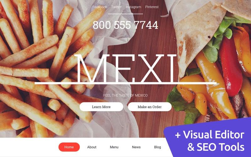 Mexican Restaurant Moto CMS 3 Template