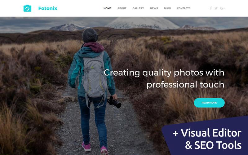 Modelo de galeria de fotos fotonix responsivo