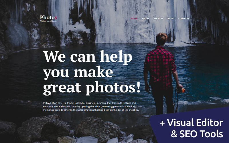 Photography Studio Photo Gallery Template