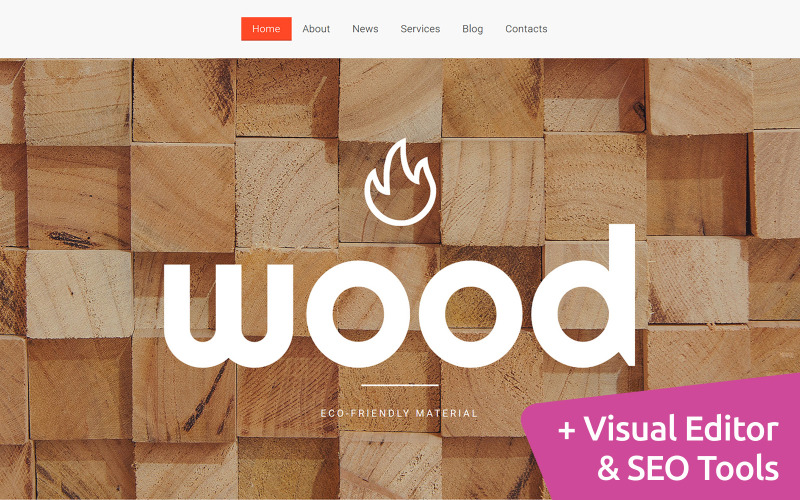 Wooden Products Moto CMS 3 Template
