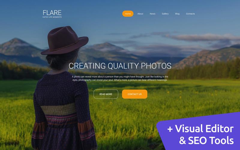 Flare - Galeria de fotos Modelo de galeria de fotos