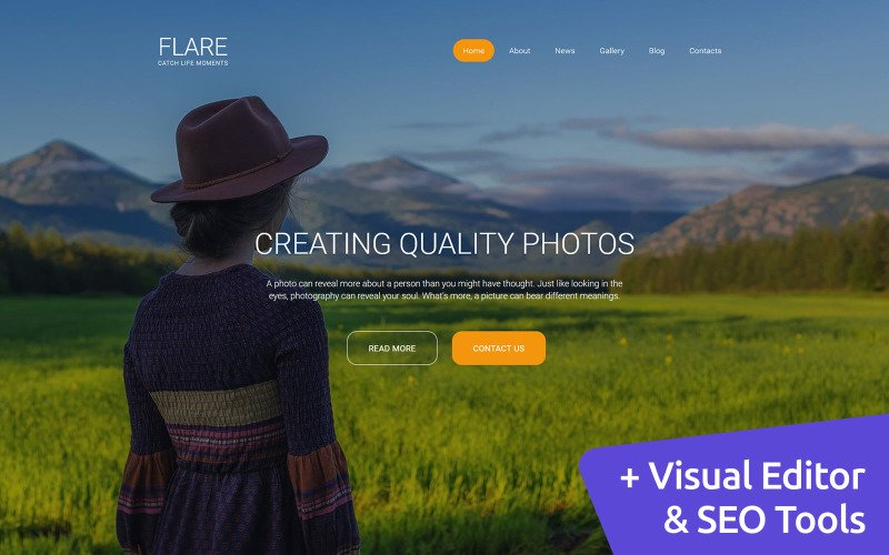 Flare - Photo Gallery Photo Gallery Template