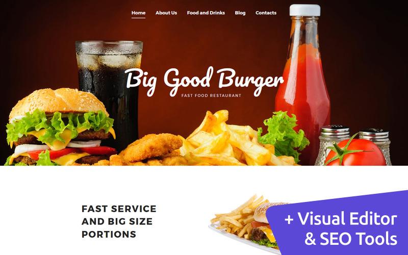 Modelo de Moto CMS 3 de restaurante de fast food