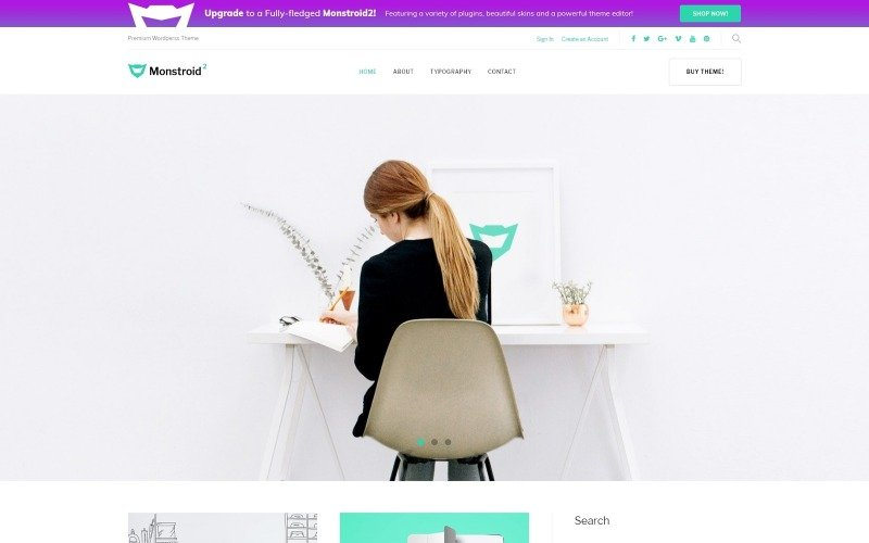 Monstroid 2 Lite - free WordPress Theme