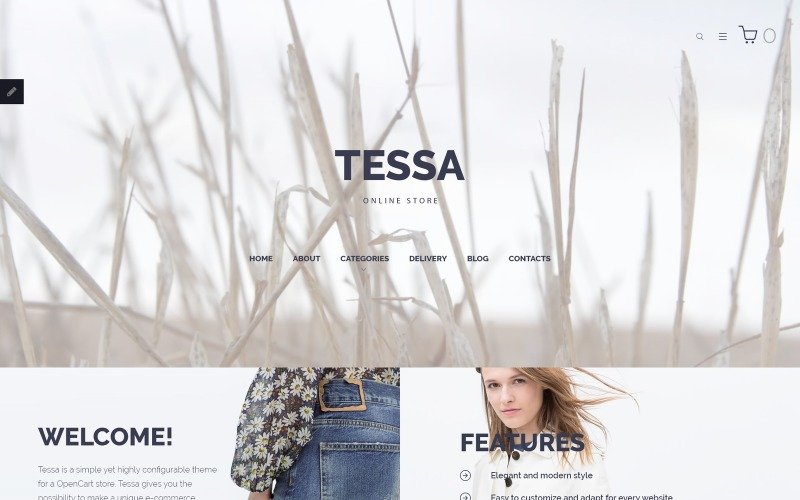 Tessa - Fashion & Clothing Store OpenCart Template