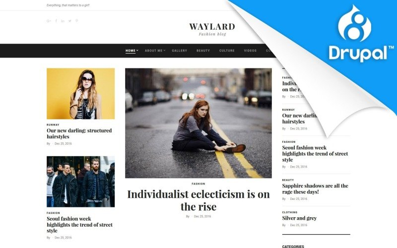 Waylard - Fashion Blog Drupal Template