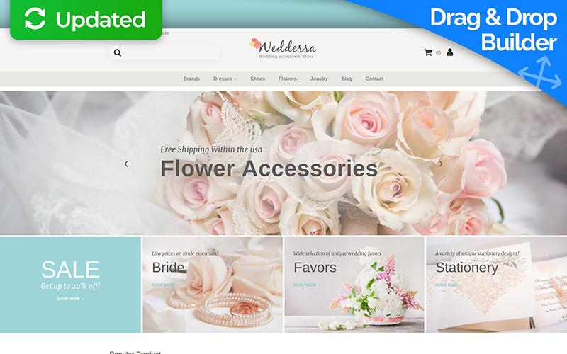 Weddessa - Wedding Store Responsive MotoCMS Ecommerce Template