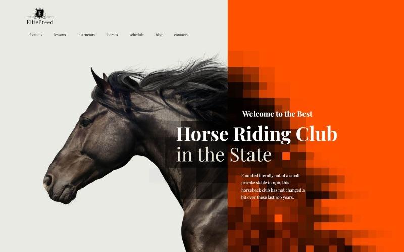 Elite Breed - Motyw WordPress Klub jeździecki i jeździecki