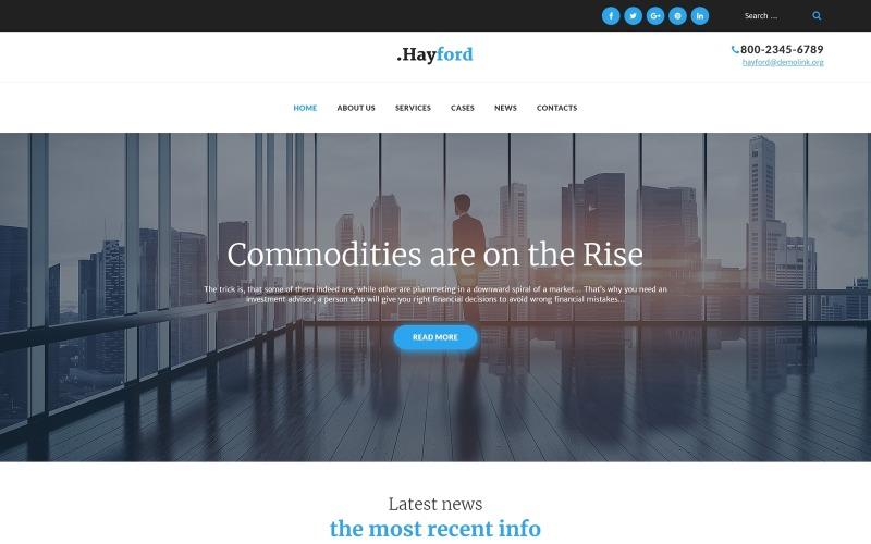 Hayford - Tema adaptable de WordPress para servicios de consultoría de inversiones