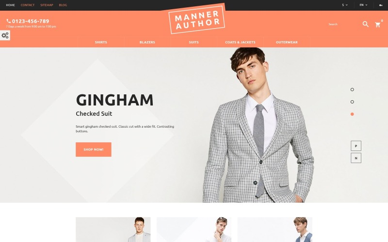 MannerAuthor - Men Clothes PrestaShop Theme