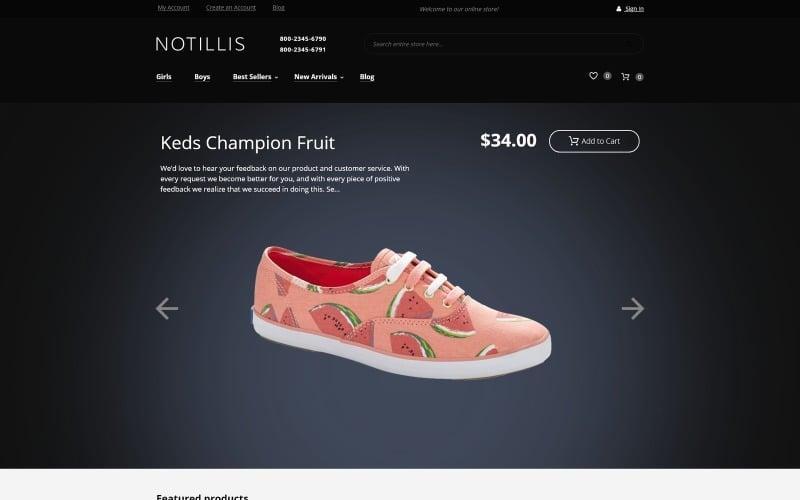 Notillis - Shoe Store Responsive Magento Theme