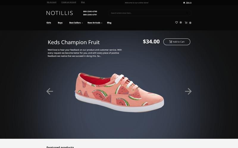 Notillis - Tema Magento adaptable para zapaterías