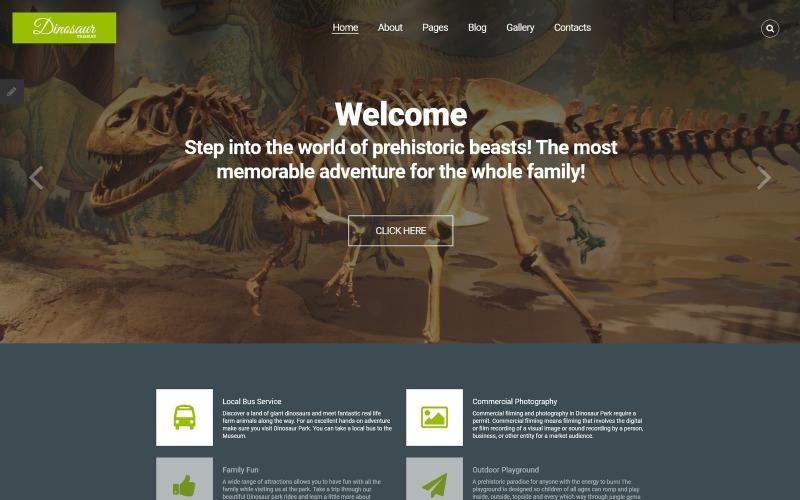Plantilla Joomla para Museo de Dinosaurios