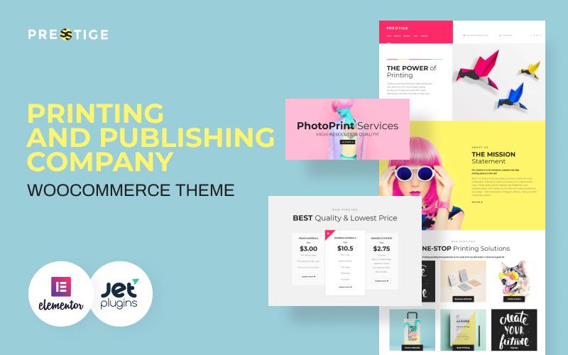 Presstige - Tema WordPress responsivo para empresa de impressão digital